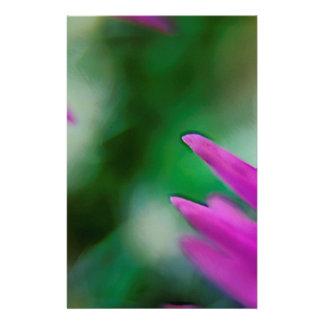 Pink Cactus Petals Stationery