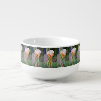 Pink Cactus Rose Soup Bowl