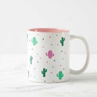 Pink Cactus to fever Two-Tone Coffee Mug