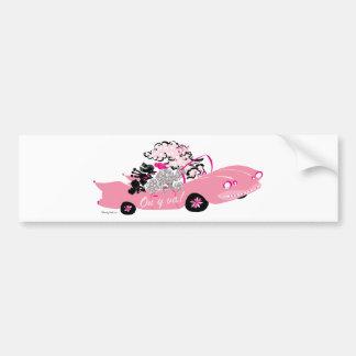 Pink Cadillac Bumper Sticker