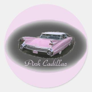 Pink Cadillac Flash Round Sticker