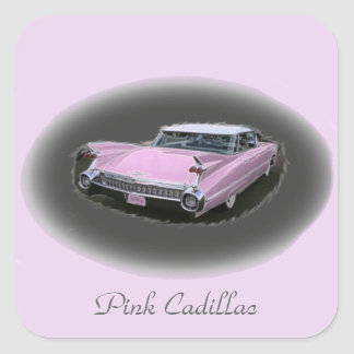 Pink Cadillac Flash Square Sticker