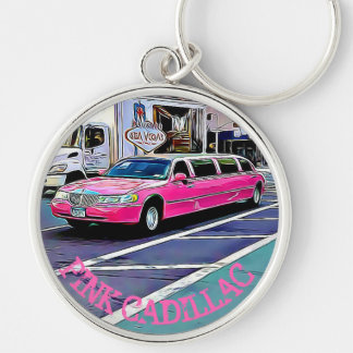 Pink Cadillac in NYC Key Chain