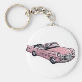 Pink Cadillac Keychain