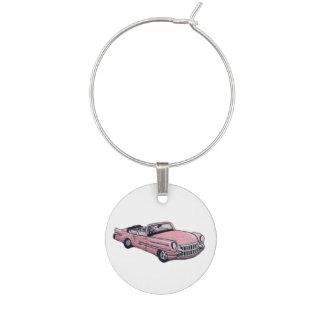 Pink Cadillac Wine Charm