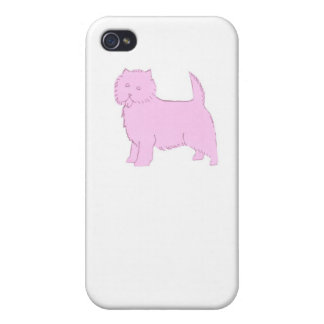 Pink Cairn Terrier iphone Hard Cover Case iPhone 4/4S Covers