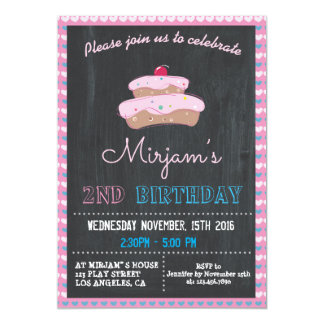 PINK CAKE BIRTHDAY PARTY INVITATION