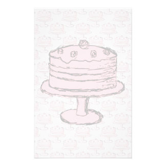 Pink Cake on Pink Cake Pattern. Flyer Design