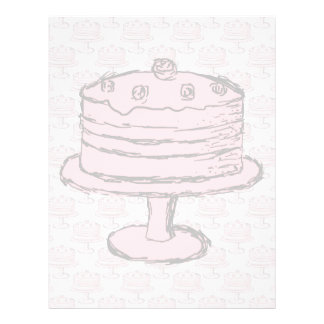 Pink Cake on Pink Cake Pattern. Personalized Flyer