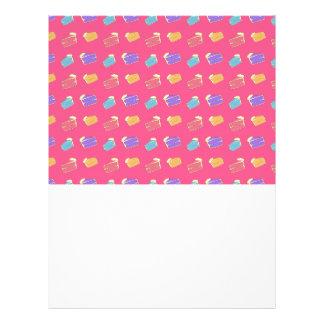 Pink cake pattern full color flyer