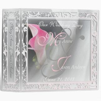 Pink Cala Lily Flourish Wedding 2in Binder