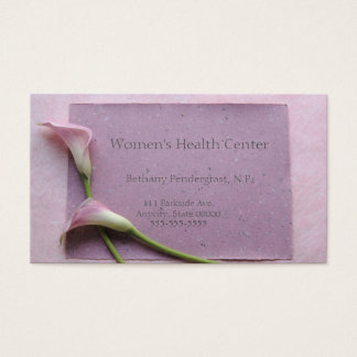 Pink calla lilies business card