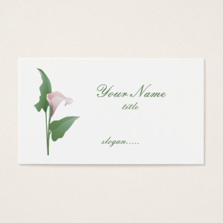 Pink Calla Lily  Floral Business Card