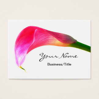 Pink Calla Lily on White Business Card