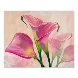 Pink Callas - Painting Poster