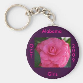 Pink Camelia Keychain