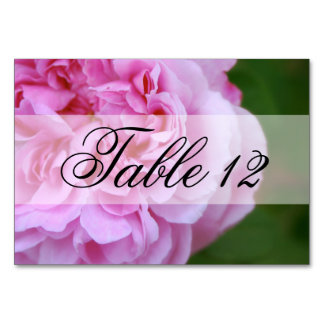 Pink Camellia and Ribbon Wedding Card
