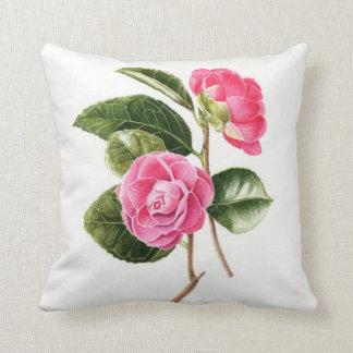 Pink Camellia cushion