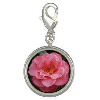 Pink Camellia Flower Charm Jewellery