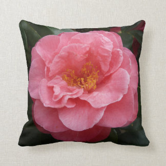 Pink Camellia Flower Cushion