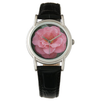 Pink Camellia Flower Watch