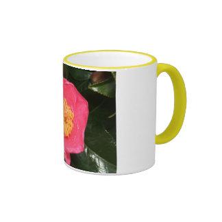 Pink Camellia Ringer Mug