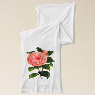 Pink Camellia Scarf