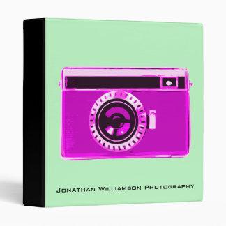 Pink Camera Photography Business Binder