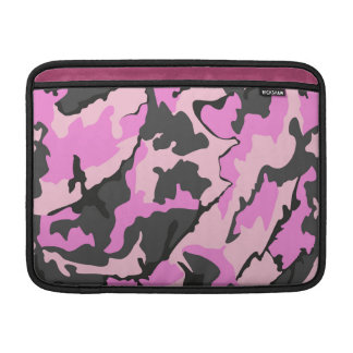 "Pink Camo, 13"" Horizontal Sleeve For MacBook Air"