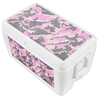 Pink Camo, 48 Quart Igloo Chest Cooler