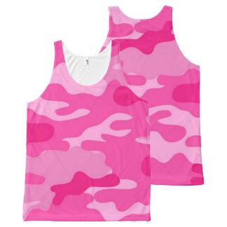 Pink Camo All-Over-Print Tank Top