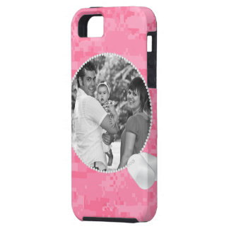 Pink Camo and Dog Tags Photo iPhone4 Case