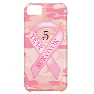 Pink Camo Breast Cancer Survivor Awareness iPhone 5C Cover