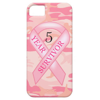 Pink Camo Breast Cancer Survivor Awareness iPhone iPhone 5 Cover