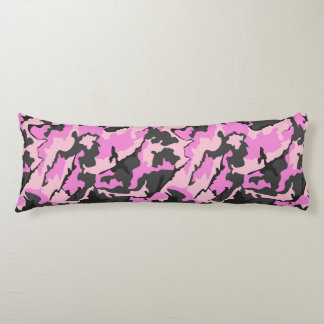 Pink Camo, Brushed Polyester Body Pillow