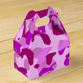 Pink Camo Camoflauge Birthday Party Favor Box