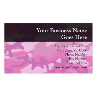 Pink Camo Camoflauge Business Card Template