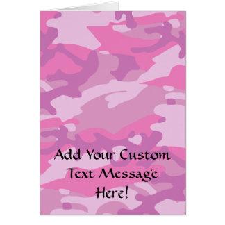 Pink Camo Camoflauge Card