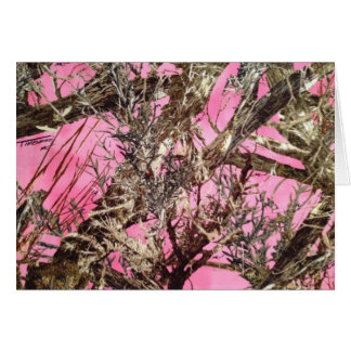Pink Camo - Camouflage Gifts - Card