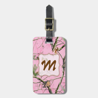 Pink Camo Camouflage Hunting Girl Real Luggage Tag