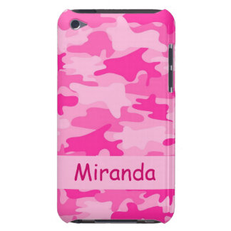 Pink Camo Camouflage Name Personalized Barely There iPod Case