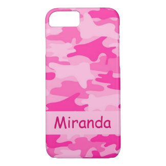 Pink Camo Camouflage Name Personalized iPhone 7 Case