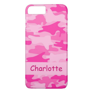 Pink Camo Camouflage Name Personalized iPhone 7 Plus Case