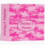 Pink Camo Camouflage Personalized Album Notebook