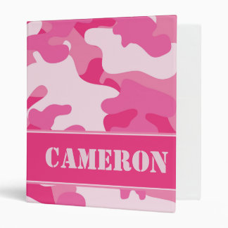 Pink Camo (Camouflage) | Personalized Vinyl Binders