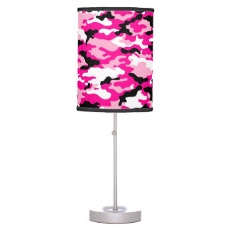 Pink CAMO Camouflage Table Lamp
