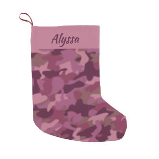 Pink Camo Christmas Stocking Military Camouflage