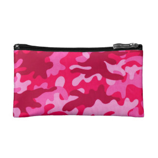 Pink Camo Cosmetic Bag
