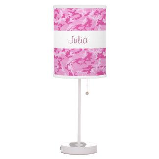 PINK Camo Custom Name V085L Table Lamp