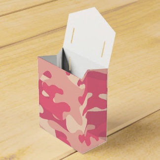 Pink Camo Design Favor Box